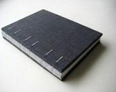 Charcoal gray linen journal