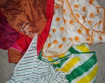Colorful Bunch of Vintage Vera Silk Scarves - 4 Beautiful Scarves ... What a Deal