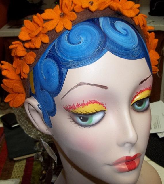 Artsy and CHIC Vintage Floral Felt Headband