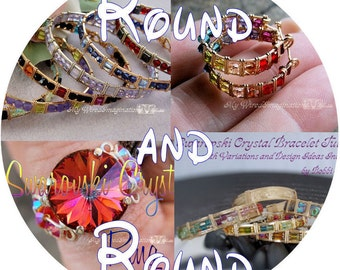 Round and Round, DIY Wire Wrap Earrings, Bracelets, Rings, Wire Jewelry Tutorials Discount Package 30% Savings Instant Downloadable PDF File