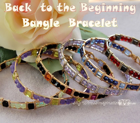 Tutorial Beginner Bangle Bracelet Wire Wrap Tutorial Back to the Beginning, Instant Download PDF File, Instructions