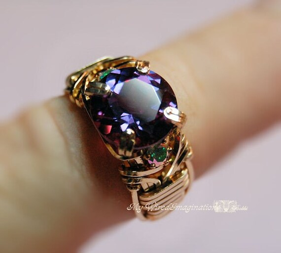 Alexandrite And Mystic Topaz Wire Wrapped By