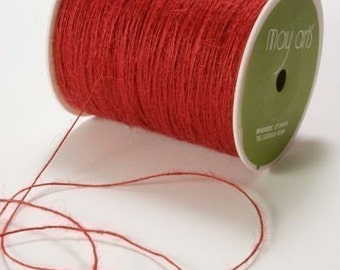 Red Burlap Twine - Red Twine -May Arts Red Burlap String 10 yds