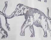 Tea Towel - Elephant - Eggplant - 100% Linen