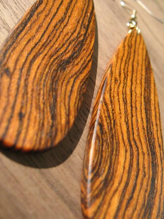 Bocote Wood Earrings - Free Worldwide Shipping