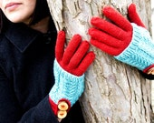 Bräcken Cashmere and Lambswool Convertible Knit Gloves & Hand Warmer
