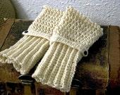 Eggnog Merino Wool Fingerless Gloves Made to Order