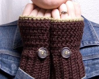 Wool Blend Chocolate Mint Gloves