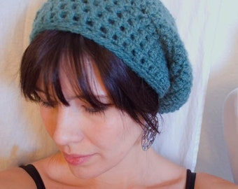 Algae Bloom Slouch Beret MADE TO ORDER