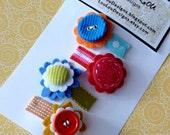 Set of 4 Designer Mini Clips by Lou Lou Designs