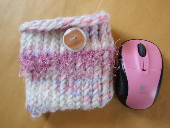 Light Pastel  Rainbow Mini  knit Bag
