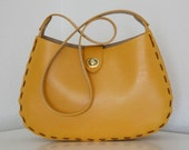 the hillside bag, large (marigold)