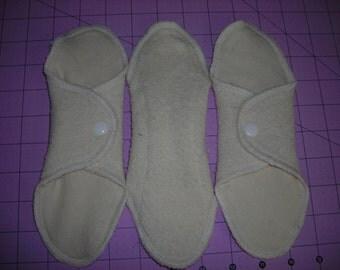 6 pack all natural hemp fleece mama pads