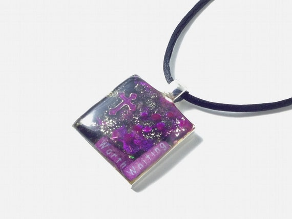 Worth Waiting - Necklace - Black and Plum Colors
