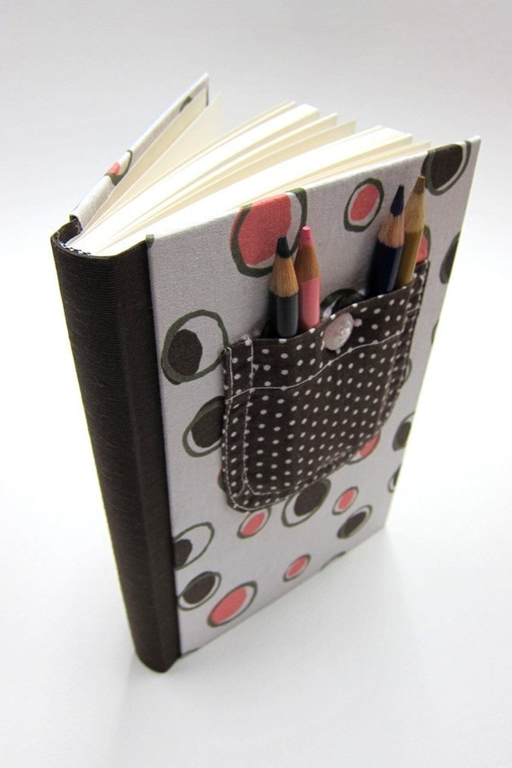 Kids's Journal/Diary/Notebook made from recycled childrens clothing