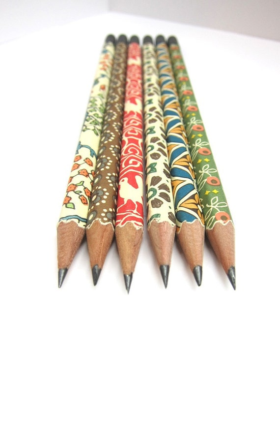 Paper Wrapped Pencils - Set of 6