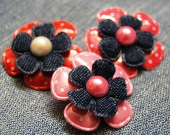 Cute Spotty Flower  Hair Clip