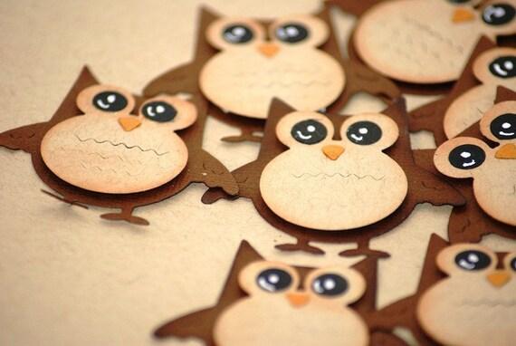 5 x Cute Owl Die Cut