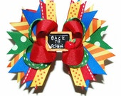 Petite Sized Back to School Bow ABSD