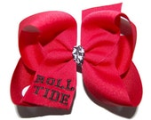University of Alabama Roll Tide Embroidered Bow