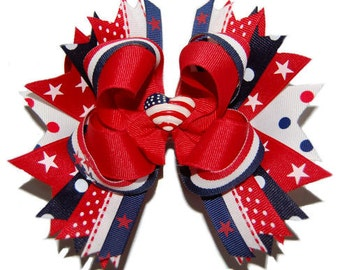Red, White & Blue Patriotic Bow ABSD