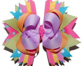 M2MG Butterfly Blossoms Large Layered Bow