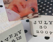 Personalized Photo Blocks - Black and Whites