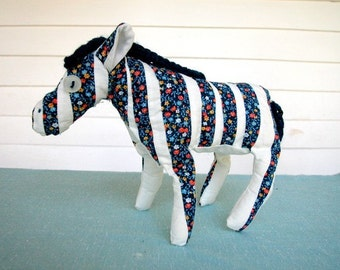Patchwork Zebra Plush Pattern