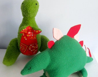 Two Dinosaur Plush Patterns
