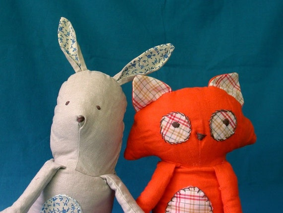 Bunny and Fox Flip Doll Pattern