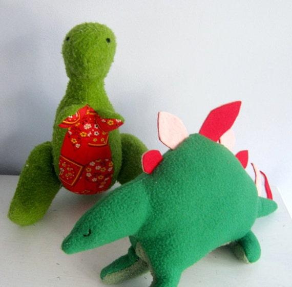 Two Dinosaur Plush Patterns