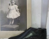 Sweet Vintage Black Paint Metal Child's Shoe Last