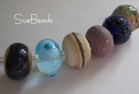 SueBeads - Mixed Bead Set 2 - Handmade Lampwork Beads - SRA M67