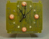 Autumn Sky RECYCLED CIRCUIT BOARD Desk Clock