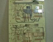 Recycled Vintage Circuit Board LARGE Silver CLIPBOARD Geekery lc1