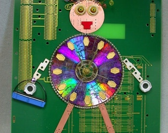 Recycled CIRCUIT BOARD CLOCK  Not Plain Jane Geek Humor
