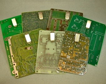 Recycled CIRCUIT BOARD CLIPBOARD Mini Magnetic pkg2