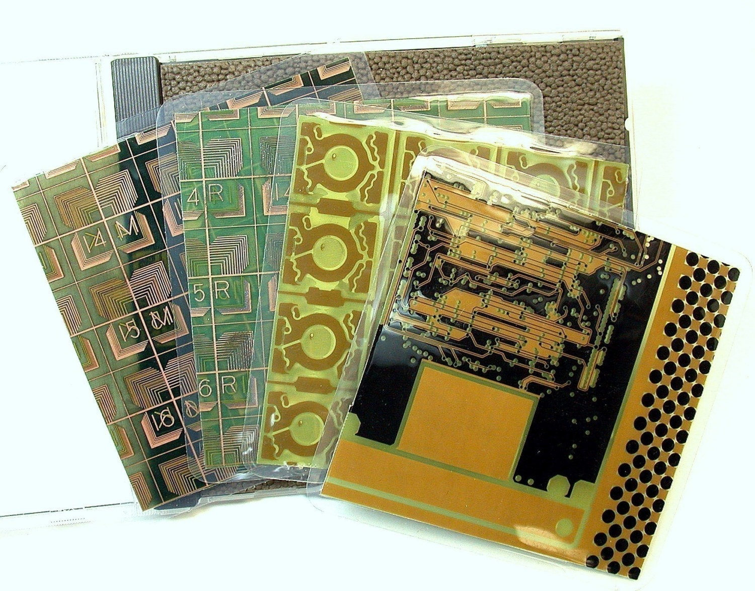 Recycled Circuit Board Light Switch Plate Techie Geekery Wall Auto Vintage Minimagnetic Geek Clipboard Coasters Pkg 4