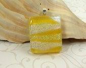 Sparkling Lemonade Yellow Dichroic Pendant