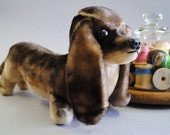 Reserved for Meagan Vintage Dachshund stuffed toy made in Japan