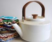White Enamel Copco Tea Kettle by Micheal Lax design 117