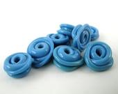 Itty Bitty Lumpy Bumpy Beads - Light Denim Blue