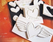 Hand Carved Stamps- Hearts