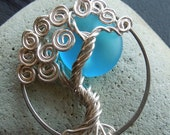 Sky Blue Moon Sterling Silver Tree Necklace-Full Moon-Fantasy