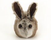 Frosty Woodland Rabbit Soft Stuffed Plushie Momma Size