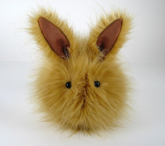 Honey Bunny Stuffed Faux Fur Plushie Momma Size