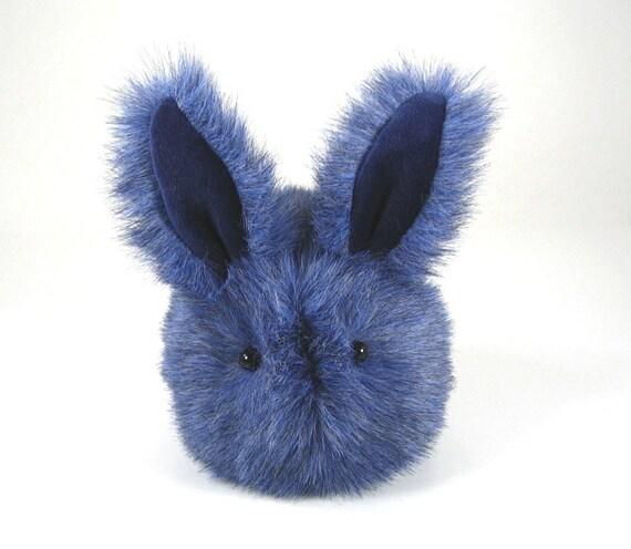 Stuffed Bunny Stuffed Animal Cute Plush Toy Bunny Kawaii Plushie Sky the Blue Snuggly Cuddly Faux Fur Bunny Rabbit Toy Medium 5x8 Inches