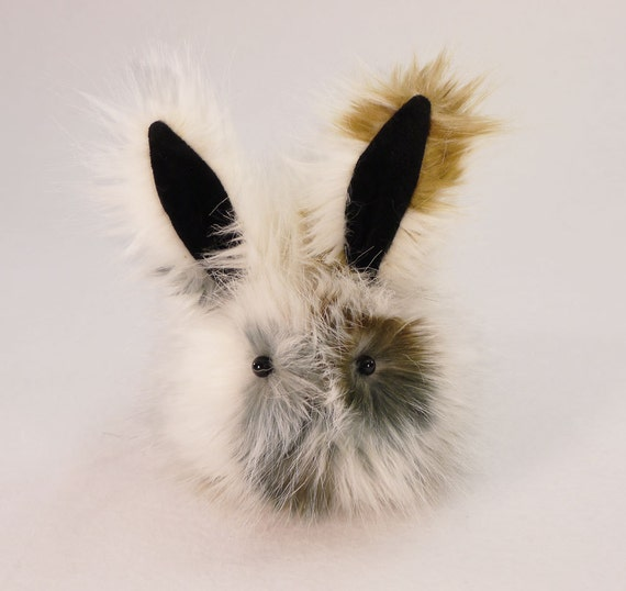 Calico Patches Bunny Faux Fur Plushie Baby Size