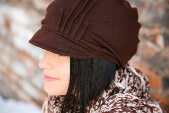Brimmed Slouch Hat- brown