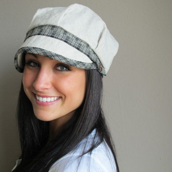 linen engineer pageboy hat womens size large xl by
